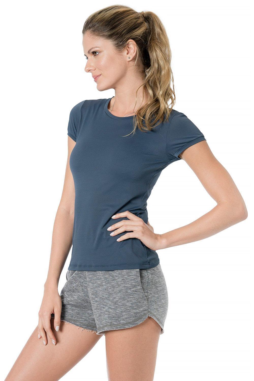 c082b8177f Baby Look Comfy Basic Azul Marinho na Rhio Casual   Fitness