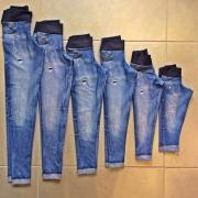 Legging em Athletic Estampado Jeans Infantil